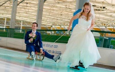 Bruidsfotografie ijsbaan, Cruquius, stadhuis Heemstede en Parnassia Overveen