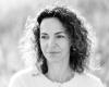 Portret vrouw zwart-wit Haarlem fotoshoot door fotograaf Grietje Mesman
